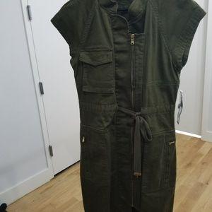 Drawstring Utility Dress